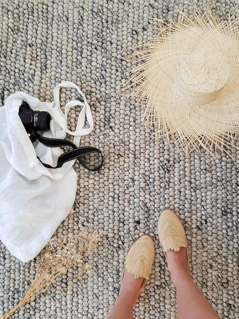 Azizah Marble Grey Looped Wool Rug – Miss Amara (AU)