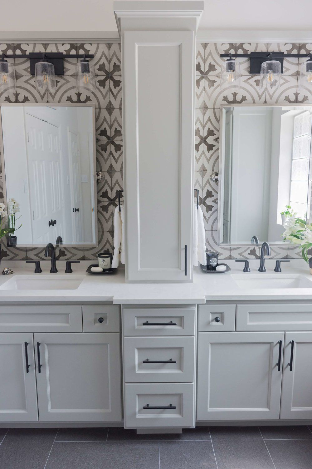 BEFORE AND AFTER: A Dated, Builder Bathroom Becomes An Eye-Catching, Modern Retreat — DESIGNED