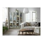 BILLY Bookcase with glass doors - beige - IKEA