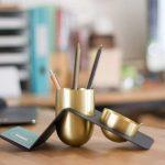 BLANK - Brass Tidy Desk Organizer - Kit-Box Design