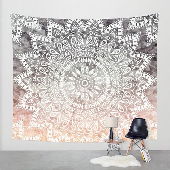BOHEMIAN HYGGE MANDALA – Boho Wall Tapestry