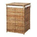 BRANÄS Laundry basket with lining - rattan - IKEA