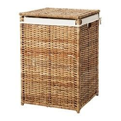 BRANÄS Laundry basket with lining – rattan – IKEA