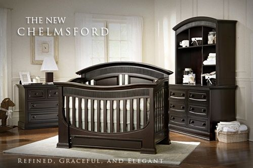 Baby Appleseed Chelmsford 3 Piece Nursery Set – Convertible Crib, Double Dresser and Hutch in Espresso  FREE SHIPPING