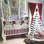 Baby Boy Crib Bedding Set, Lumberjack Baby Bedding,  Mountain Nursery, Woodlands Baby Bear Blanket, Red Buffalo Plaid Skirt,  Arrows, Bears