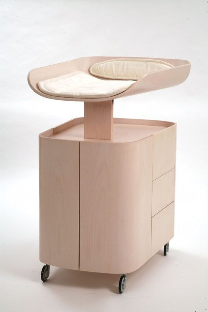 Baby Furniture from Bybo: Space Saving Wall Mounted Baby Changing Table