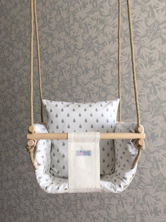 Baby swing chair, Nordic decor, Scandinavian style, Baby/toddler indoor swing set, Interior decor