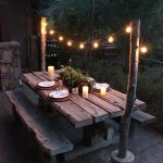 Backyard Picnic Table Dining Area