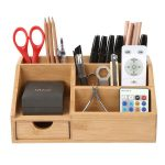 Bamboo Desk Organizer Storage Box Desk Tidy Pen Holder, View Bamboo Desk Organiz...