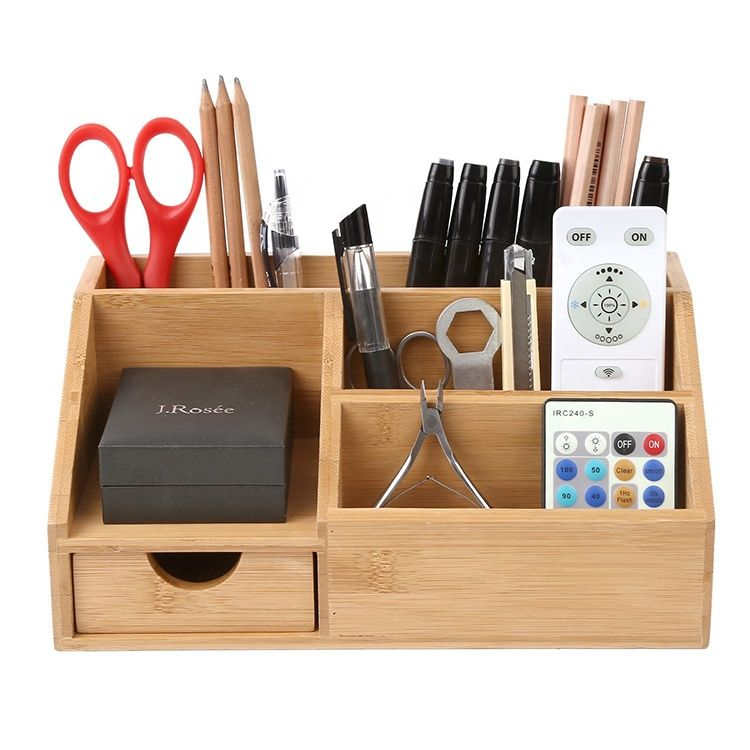 Bamboo Desk Organizer Storage Box Desk Tidy Pen Holder, View Bamboo Desk Organiz…