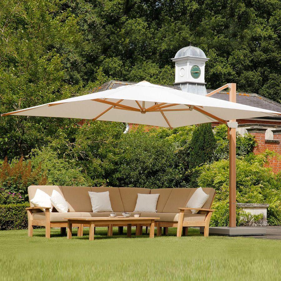 Barlow Tyrie Napoli 13′ Square Cantilever Umbrella