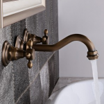 Basin Taps, Bathroom Taps, Basin Mixer Taps - Homary UK - Wall Mounted