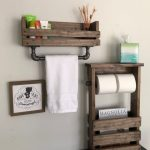 Bathroom Set Industrial Modern Farm House, towel bar magazine holder and double toilet paper, Industrial Rustic Barn House Pipe towel bar