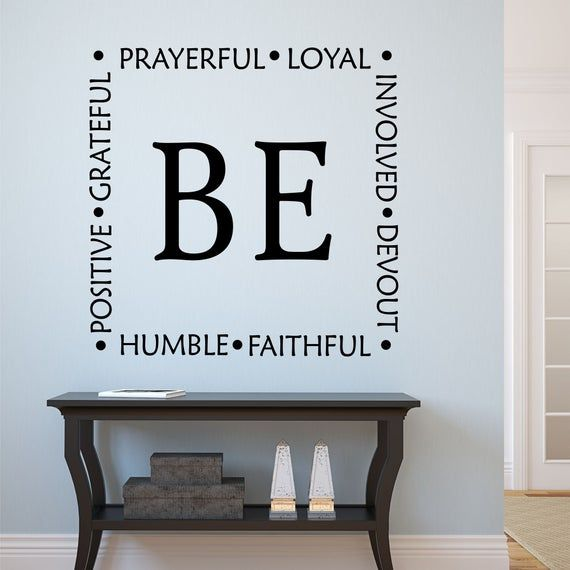 Be Faithful Devout Decal, Christian Decal, Religious Wall Quote, Gift for Christian, Vinyl Wall Lettering, Vinyl Wall Decals, Vinyl Letters