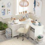 Beadboard Smart Drawer & Cubby Corner Desk