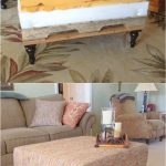 Beautiful DIY Ottoman { From a Pallet and a Mattress Topper! }