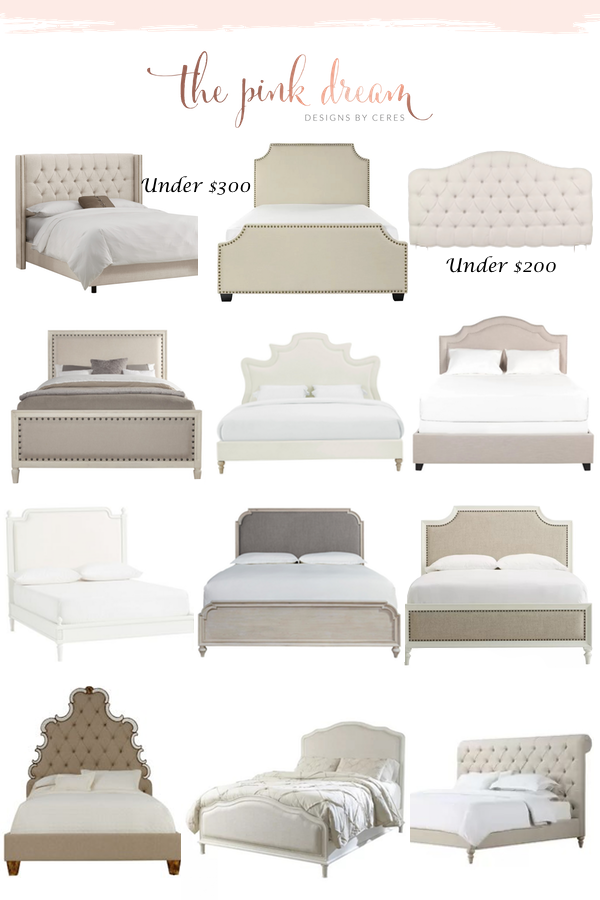 Beds and Upholstered Headboards Roundup – The Pink Dream