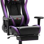 Best Seller Ficmax Massage Gaming Chair Ergonomic Gamer Chair  Footrest Reclining Game Chair  Armrest High Back Leather PC Gaming Chair Plus Size Racing Office Chair  Head  Lumbar Support (Purple) online - Liketopclothing