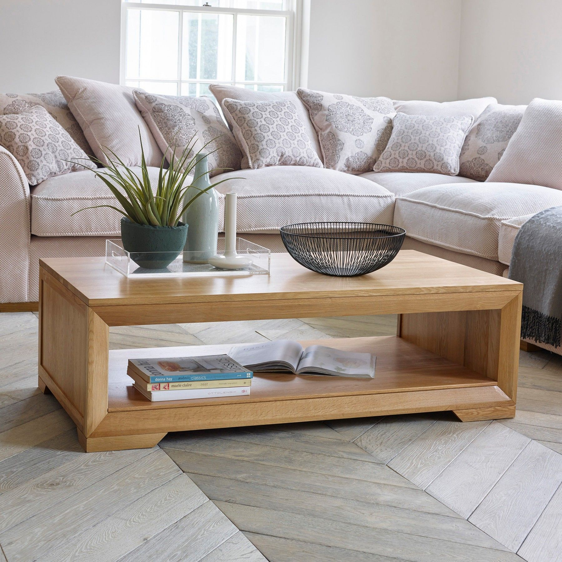 Bevel Solid Oak Coffee Table | Living Room Furniture