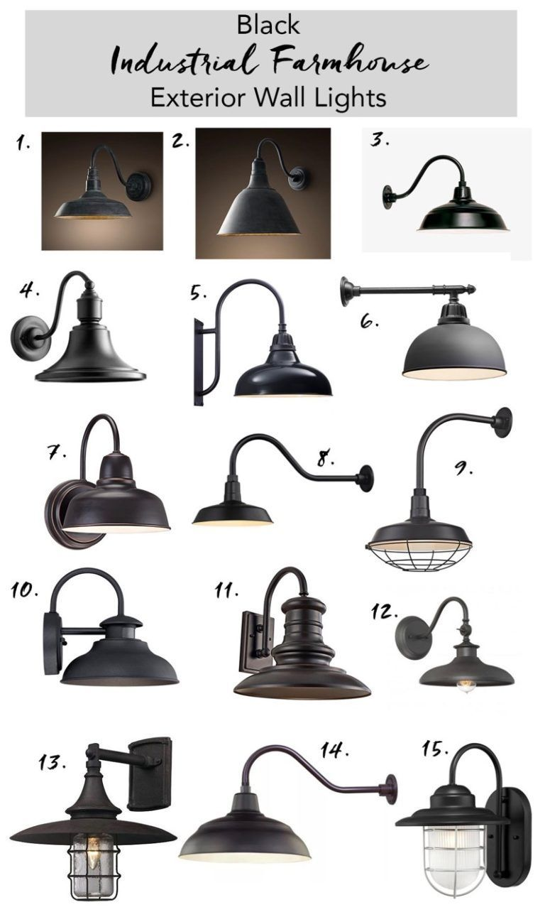 Black Outdoor Farmhouse Lights – Daly Digs