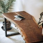Black Walnut Live Edge Desk // Wood Slab // Table // Custom // Handmade
