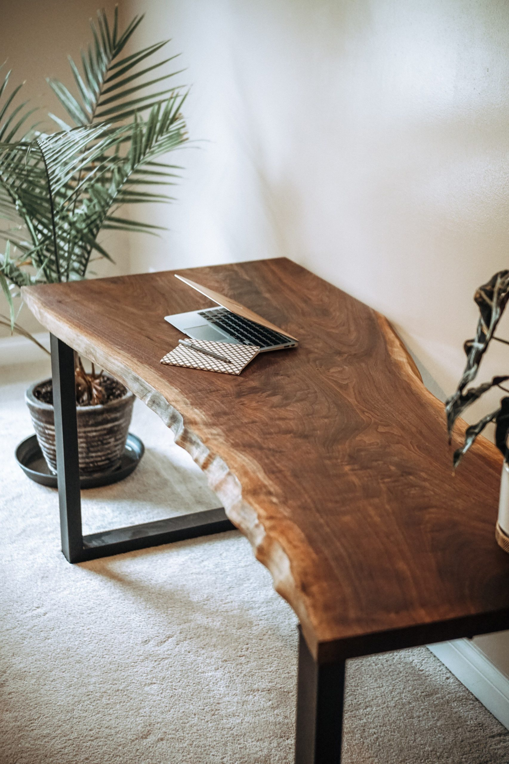 Black Walnut Live Edge Desk // Wood Slab // Table // Custom // Handmade