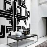 Black White Geometric Art