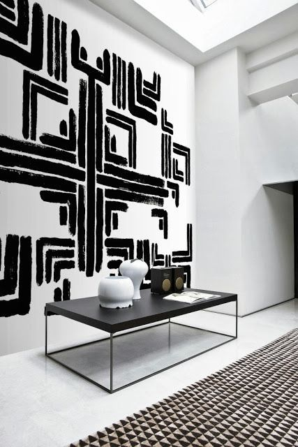 Black White Geometric Art