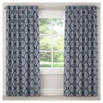 "Blackout Damask Curtain Panel Blue (50""x63"")"