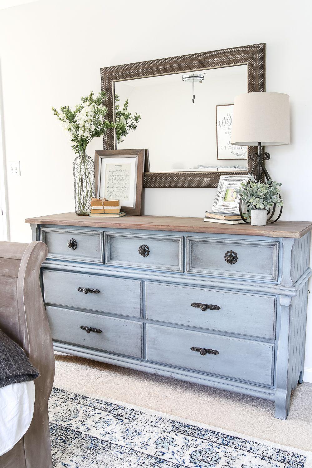 Blue Cottage Style Guest Bedroom Makeover Reveal – Bless'er House