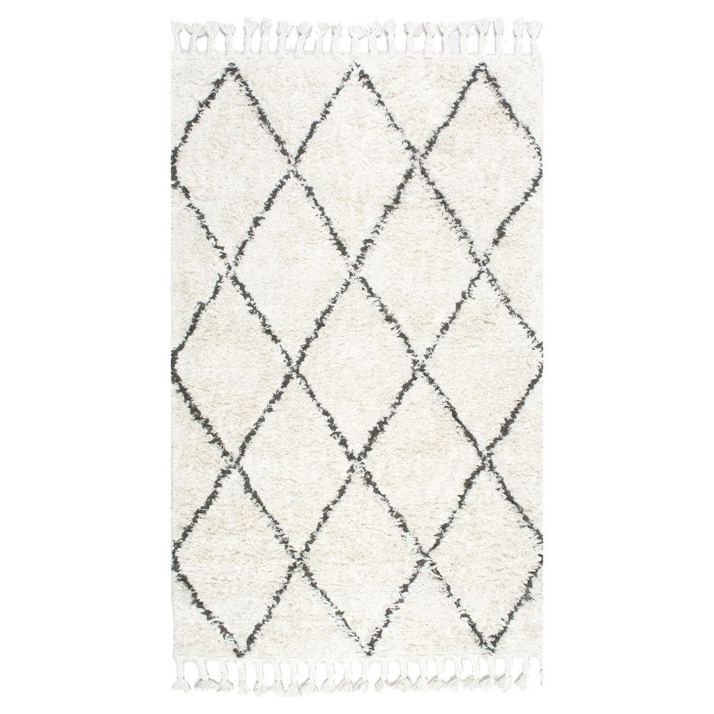 Bohemian Moroccan Berber Wool Shag Marrakesh Rug