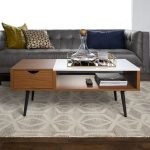 Booker Single-Drawer Acorn/Faux Marble Coffee Table by Bellamy Studios - Walmart.com