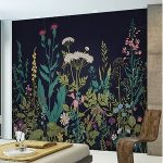 "Botanical Fleur 118"" x 94"" 6 Piece Wall Mural Set 