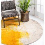 Bridgeport Home Newwolf New4 Yellow 6' x 6' Round Area Rug & Reviews - Rugs - Macy's
