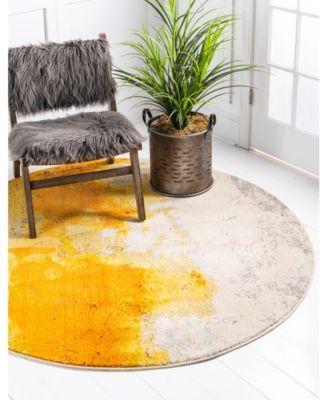Bridgeport Home Newwolf New4 Yellow 6′ x 6′ Round Area Rug & Reviews – Rugs – Macy's
