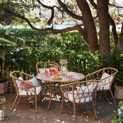 Britanna 4 Person Patio Dining Table Brown – Opalhouse , White