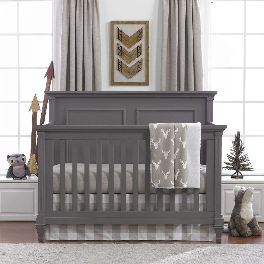 Buck Woodland (Taupe) Bumperless Crib Bedding | Liz And Roo