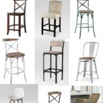 Budget Friendly Farmhouse Style Bar Stools with Backs