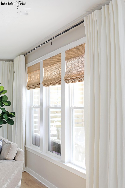 Budget-Friendly Living Room Window Treatments