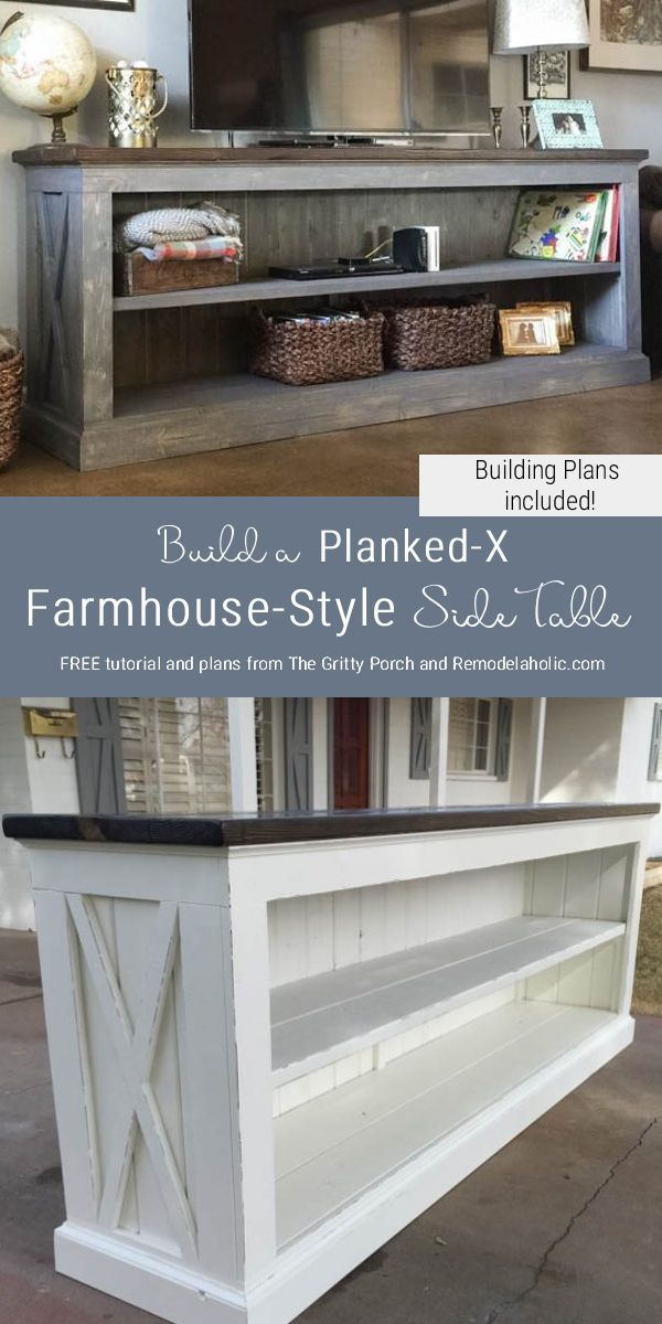 Build a Farmhouse Style TV Console/Sideboard