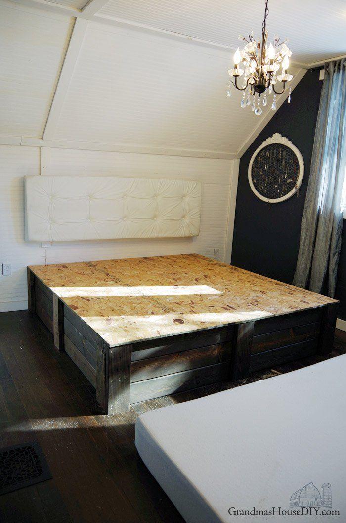 Build your own platform bed frame DIY – Grandmas House DIY