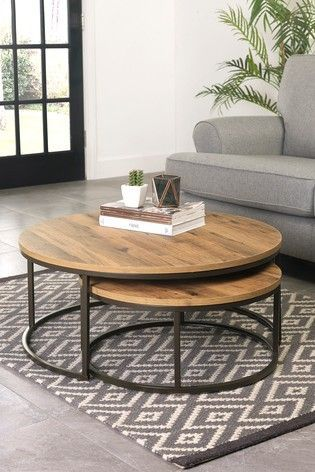 Buy Bronx Round Coffee Nest Of Tables from the Next UK online shop – pickndecor.com/design