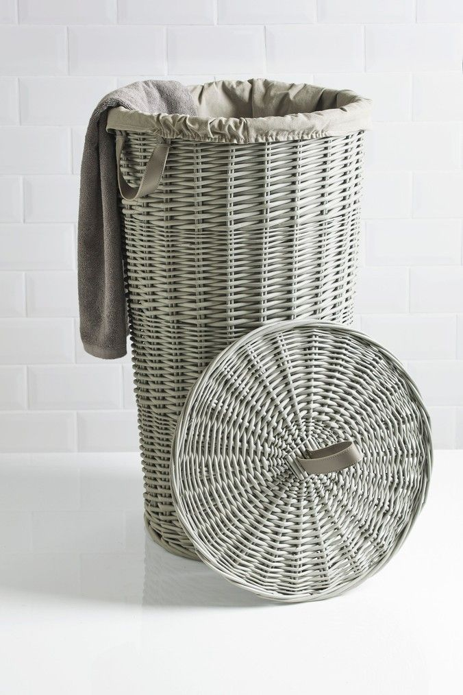 Buy Painted Willow Laundry Bin from the Next UK online shop