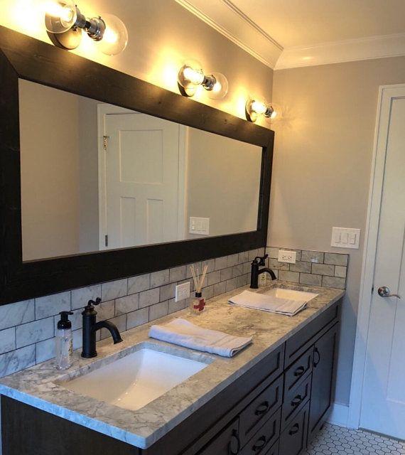 CUSTOM SIZE MIRRORS, Mirror, Bathroom Mirror, Vanity Mirror, Wall Mirrors, Wood Framed Mirror, Rustic Wood Mirror, Farmhouse, Large Mirrors