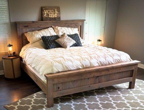 Cadre de lit Queen Size avec tiroirs en dessous