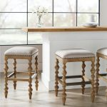 Campbell Carved Backless Bar & Counter Stools | Frontgate
