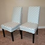 Capital E easy parson chair slipcover tutorial with chevron fabric!!! Two chairs...