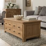 Carmen Solid Oak Coffee Table with drawers