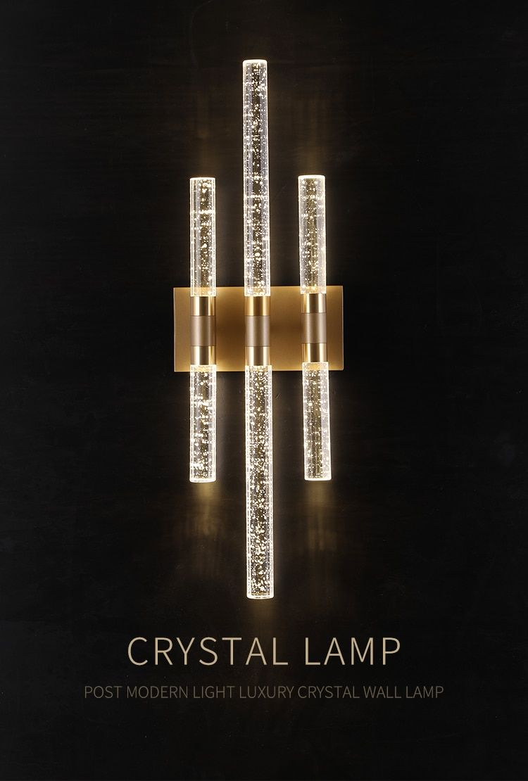 Champagne Gold Crystal Bubble Wall Lamp | Light Fixtures