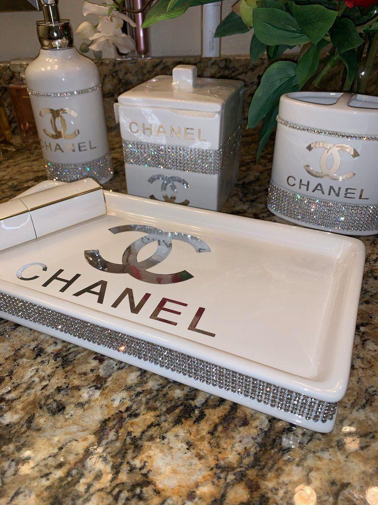 Chanel Bathroom Accessory Set